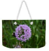 Purple And The Bee Weekender Tote Bag