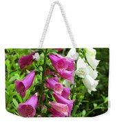 Purple And White Bell Flowers Weekender Tote Bag