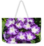 Purple And White Bouquet Weekender Tote Bag