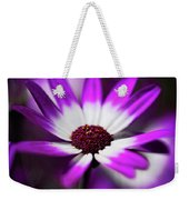 Purple And White Daisy  Weekender Tote Bag