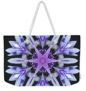 Purple And White Frosted Queen Mandala Weekender Tote Bag