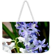 Purple And White Hyacinth Weekender Tote Bag