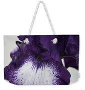 Purple And White Iris Bloom Weekender Tote Bag
