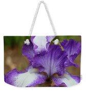 Purple And White Iris Layers Weekender Tote Bag