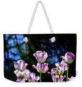 Purple And White Tulips - Photopainting Weekender Tote Bag