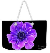 Purple Anemone Flower Weekender Tote Bag