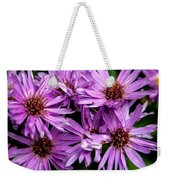 Purple Aster Blooms Weekender Tote Bag