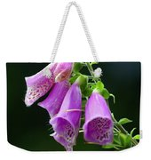 Purple Bells Horizontal Weekender Tote Bag