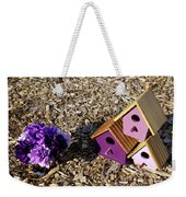 Purple Birdhouses 2 Weekender Tote Bag
