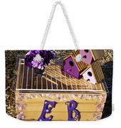 Purple Birdhouses 3 Weekender Tote Bag