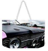 Purple, Black And Chrome Weekender Tote Bag