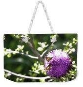 Purple Blossom Weekender Tote Bag