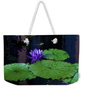 Purple Blue  Lily Weekender Tote Bag
