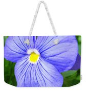Purple Blue Pansey Weekender Tote Bag