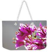 Purple Bougainvillea Flower Weekender Tote Bag