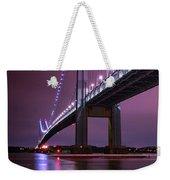 Purple Bridge Weekender Tote Bag