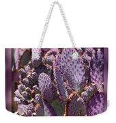 Purple Cactus Canvas Weekender Tote Bag