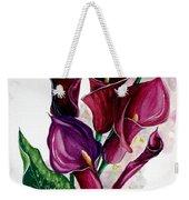 Purple Callas Weekender Tote Bag