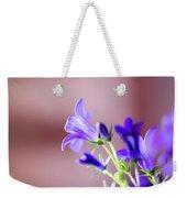 Purple Campanula Blooms Weekender Tote Bag