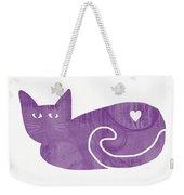 Purple Cat- Art By Linda Woods Weekender Tote Bag