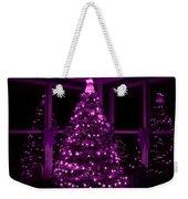 Purple Christmas Weekender Tote Bag