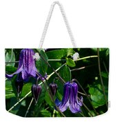 Purple Clamatis Bells Weekender Tote Bag
