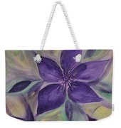 Purple Clematis Abstract Weekender Tote Bag