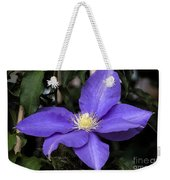 Purple Clematis Weekender Tote Bag