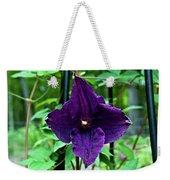 Purple Clematis Henryi Weekender Tote Bag