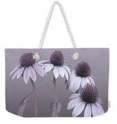 Purple Coneflowers And Dragonfly Weekender Tote Bag