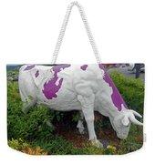 Purple Cow 4 Weekender Tote Bag