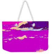 Purple Crashing Waves Weekender Tote Bag
