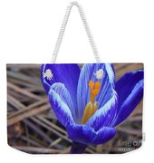 Purple Crocus Weekender Tote Bag