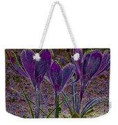 Purple Crocuses  Weekender Tote Bag