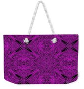 Purple Crossed Arrows Abstract Weekender Tote Bag