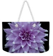 Purple Dahlia Cutout Weekender Tote Bag