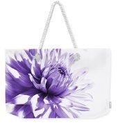 Purple Dahlia Floral Weekender Tote Bag