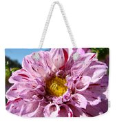 Purple Dahlia Flowers Pink Floral Art Prints Canvas Garden Baslee Troutman Weekender Tote Bag