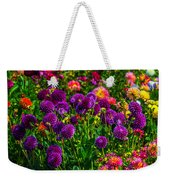 Purple Dahlias Weekender Tote Bag