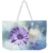 Purple Daisy Swirl Weekender Tote Bag