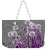 Purple Dandelions Weekender Tote Bag