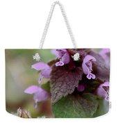 Purple Deadnettle Bloom Weekender Tote Bag