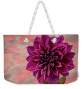 Purple Dhalia Weekender Tote Bag