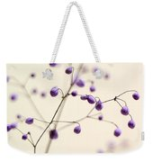 Purple Droplets Weekender Tote Bag