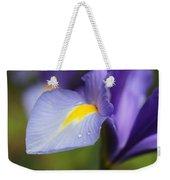Purple Dutch Iris Flower Macro Weekender Tote Bag