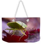 Purple Eyed Green Stink Bug Weekender Tote Bag