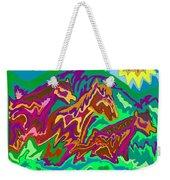 Purple Feathered Horses Weekender Tote Bag
