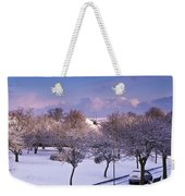 Purple February Weekender Tote Bag