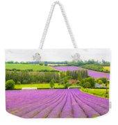 Purple Fields Of Love Weekender Tote Bag