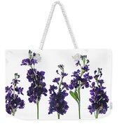 Purple Floral 1 Weekender Tote Bag